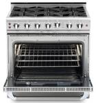 "CGSR362B2L Capital Culinarian Series 36"" Self-Clean Liquid Propane Range with 4 Open Burners and 12"" Grill - Stainless Steel"