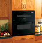 "PT925DNBB GE Profile 30"" Built-In Single/Double Convection Wall Oven - Black"