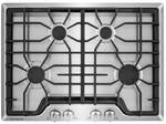"""FGGC3045QS Frigidaire 30"""" Gas Cooktop with Angled Front Controls - Stainless Steel"""