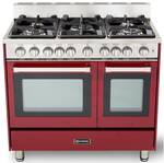 "VEFSGG365NDBU Verona 36"" All Gas Double Oven Range - Burgundy"