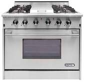 "DRGB3601N NXR 36"" Professional Range with Four Burners, Griddle, Convection Oven - Natural Gas - Stainless Steel"