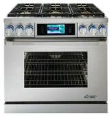 """DYRP36DSNG Dacor Discovery 36"""" Dual Fuel Range - Natural Gas - Stainless Steel"""