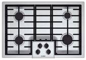 """NGM5055UC Bosch 30"""" Gas Cooktop 500 Series - Stainless Steel"""