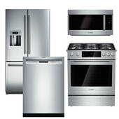 Package Bosch B4 - Bosch Appliance Package - 4 Piece Appliance Package with Gas Range - Stainless Steel