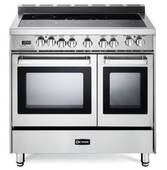 "VEFSEE365DSS Verona 36"" Electric Double Oven Range with European Convection and Storage Drawer - Stainless Steel"