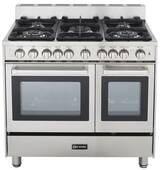 "VEFSGG365NDSS Verona 36"" All Gas Double Oven Range - Stainless Steel"