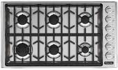 "VGSU5366BSS Viking Professional 5 Series 36"" Gas Cooktop with 6 Burners - Natural Gas - Stainless Steel"