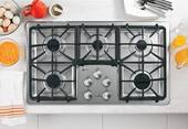 """PGP966SETSS GE Profile 36"""" Built-In Gas Cooktop - Stainless Steel"""