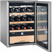 "WS1200 Liebherr 17"" Mini Freestanding Wine Cabinet - Stainless Steel"
