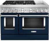 KFDC558JIB KitchenAid 48 Inch Smart Commercial-Style Dual Fuel Range with 6 Burners and Griddle - Ink Blue