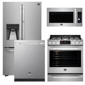Package LG LS2 - LG Studio Appliances - 4 Piece Appliance Package with Gas Range - Stainless Steel