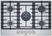 """NGM8057UC Bosch 30"""" 800 Series 5 Burner Gas Cooktop with FlameSelect and OptiSim Burner - Stainless Steel"""