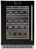 "SRVWC050L Danby Silhouette Reserve 24"" Left Hinge 37 Bottle Wine Cellar with InvisiTouch Display and Parametric Lighting - Black"