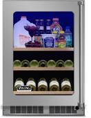 "VBUI5240GLSS Viking 24"" Viking Professional 5 series Undercounter Full Size Beverage Center with Electronic Controls and Dynamic Cooling Technologies - Left Hinge - Stainless Steel"