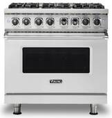 "VDR5366BSS Viking 36"" Professional 5 Series 6 Burner Dual Fuel Range with Varisimmer Pro Sealed Burner System and SureSpark Ignition - Stainless Steel"