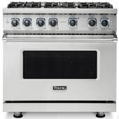 """VDR73626BSS Viking 36"""" Professional 7 Series Dual Fuel Range with SureSpark Ignition System and Viking Elevation Burners - 6 Burners - Natural Gas  - Stainless Steel"""