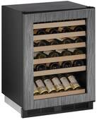 """1224WCINT00B U-Line 1000 Series 24"""" Wide Wine Captain with Digital Cooling - Field Reversible - Integrated Custom Panel Frame"""