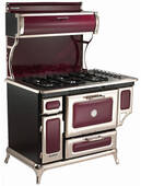 "5210CDGCRN Heartland 48"" Classic Dual Fuel Range with Electric Convection  Oven - Cranberry"