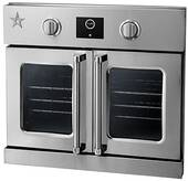 """BSEWO30ECSDV2 BlueStar Bluestar 30"""" French Door Swing Single Electric Wall Oven with Infrared Broiler - Stainless Steel"""