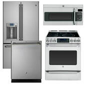 Package GE CAFE2 - Ge Cafe Appliances - 4 Piece Appliance Package with Electric Range - Stainless Steel