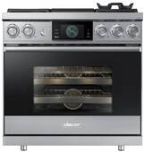 """DOP36M94DLS Dacor 36"""" Modernist Collection Pro Natural Gas Dual-Fuel Steam Range with Griddle - Stainless Steel"""