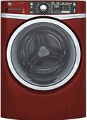"GFW480SPKRR GE 28"" GE 4.9 DOE Cu. Ft. Capacity Front Load Washer with Precision Dispense and Steam Assist - Ruby Red"