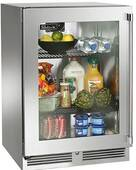 """HP24RS33L Perlick 24"""" Signature Series Refrigerator with Stainless Glass Door - Left Hinge"""