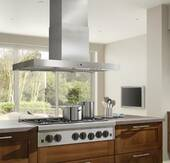 "IPB9E48SB Best Gorgona 48"" x 27"" Stainless Steel Island Range Hood with a choice of iQ12, External or In-line Blowers"
