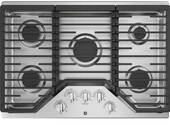 "JGP5030SLSS GE 30"" Built-In Gas Cooktop with Sealed Cooktop Burners and Heavy-Cast Edge-to-Edge Grates - Stainless Steel"