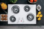 "JP328WKWW GE 30"" Built-In Electric Cooktop - True White"