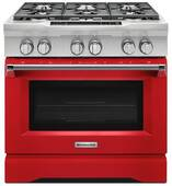 "KDRS467VSD KitchenAid 36"" Commercial Dual Fuel Range with EasyConvect Conversion System and Even-Heat True Convection - Signature Red"