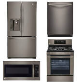 Package LG BD2 - LG Appliance Package - 4 Piece Appliance Package with Gas Range - Black Stainless Steel