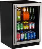 "ML24BCP2RP Marvel 24"" Beverage Center with Two 60/40 Split Convertible Shelves - Right Hinge - Solid Overlay Custom Panel"