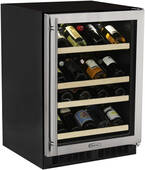 "ML24WSG1LS Marvel 24"" High Efficiency Gallery Single Zone Wine Cellar - Left Hinge - Stainless Frame"