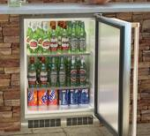 """MO24RAS1RS Marvel 24"""" Outdoor Refrigerator - Right Hinge - Stainless Steel"""