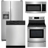 Package Frigidaire 13 - Frigidaire Appliance Package - 4 Piece Appliance Package with Electric Range - Stainless Steel