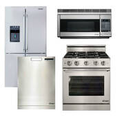 Package Dacor 21 - Dacor Ultimate Kitchen Package with Gas Range - Stainless Steel