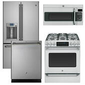 Package GE CAFE1 - Ge Cafe Appliance - 4 Piece Appliance Package with Gas Range - Stainless Steel