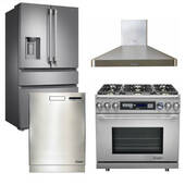 "Package Dacor D2 - Dacor Appliance Kitchen Package with Dual Fuel 36"" Range - Stainless Steel"