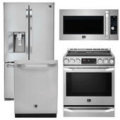 Package LG LS1 - LG Studio Appliances - 4 Piece Appliance Package with Electric Range - Stainless Steel