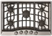 "RVGC33015BSS Viking 30"" Gas Cooktop with 5 Sealed Burners Including 17,000 BTU Dual-Stacked Center Burner - Natural Gas - Stainless Steel"