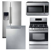 Package Samsung S2 - Samsung Appliance Package - 4 Piece Appliance Package with Gas Range - Stainless Steel