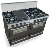 "TTN510-7W FiveStar Five Star 48"" Pro Style Gas Range with Open Burners - Natural Gas - Black"