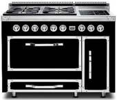 TVDR4804FGB Viking Tuscany 48 Inch Pro-Style Dual Fuel Range with 4 20,000 BTU Gas Burners, French Top and 3.8 cu. ft. Convection Oven - Natural Gas - Graphite Black
