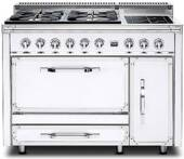 TVDR4804GAW Viking Tuscany 48 Inch Pro-Style Dual Fuel Range with 4 20,000 BTU Gas Burners, Griddle and 3.8 cu. ft. Convection Oven - Natural Gas - Antique White