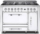 TVDR4806BAW Viking Tuscany 48 Inch Pro-Style Dual Fuel Range with Sealed Burners, 3.8 cu. ft. Convection Oven and 2.4 cu. ft. Side Swing Secondary Oven - Natural Gas - Antique White