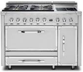TVDR4806BSS Viking Tuscany 48 Inch Pro-Style Dual Fuel Range with Sealed Burners  3.8 cu. ft. Convection Oven, 2.4 cu. ft. and Side Swing Secondary Oven - Natural Gas - Stainless Steel