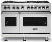 "VDR5488BSS Viking 48"" Professional 5 Series 8 Burner Dual Fuel Range with Varisimmer Pro Sealed Burner System and SureSpark Ignition - Stainless Steel"