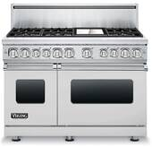 "VDR7486GSS Viking Professional 7 Series 48"" Dual Fuel Range -  Natural Gas - 6 Burners and 12"" Griddle - Stainless Steel"