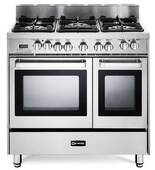 "VEFSGE365NDSS Verona 36"" Dual Fuel Double Oven Range - Stainless Steel"